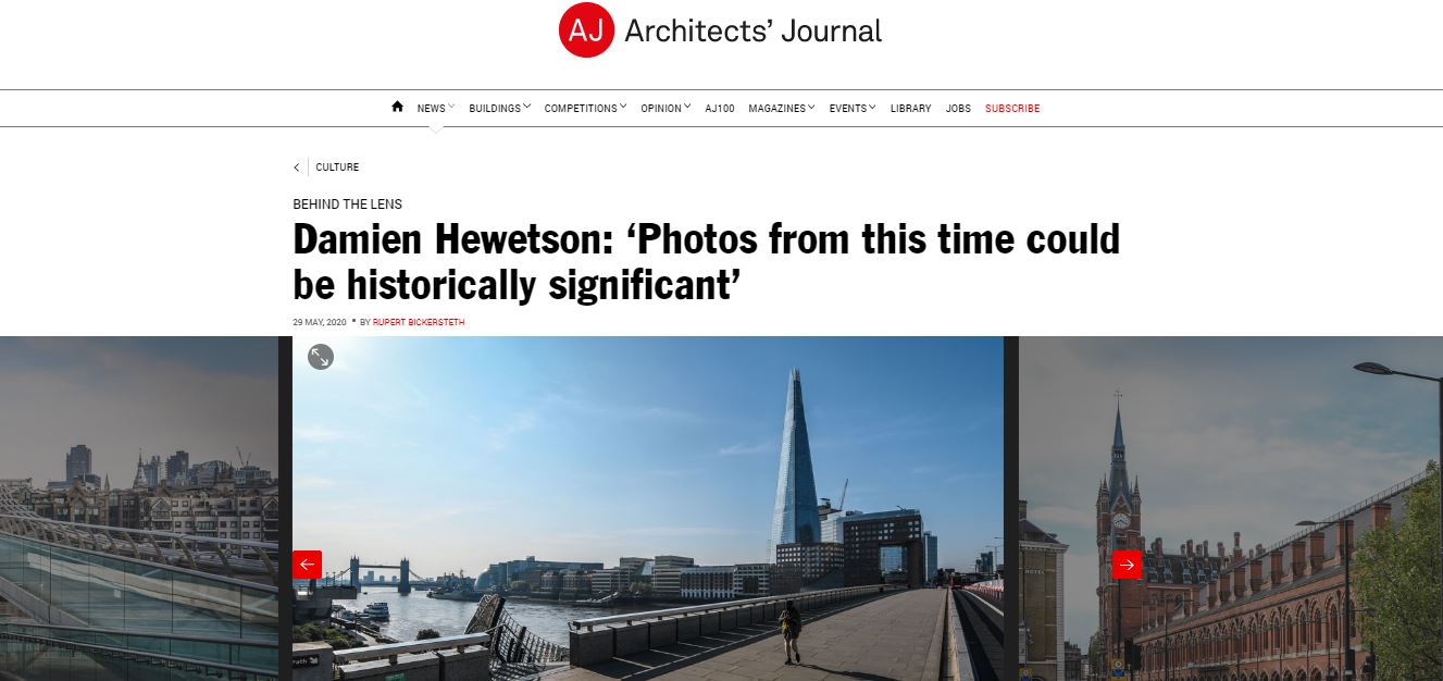 Damien Hewetson featured in Architects' Journal